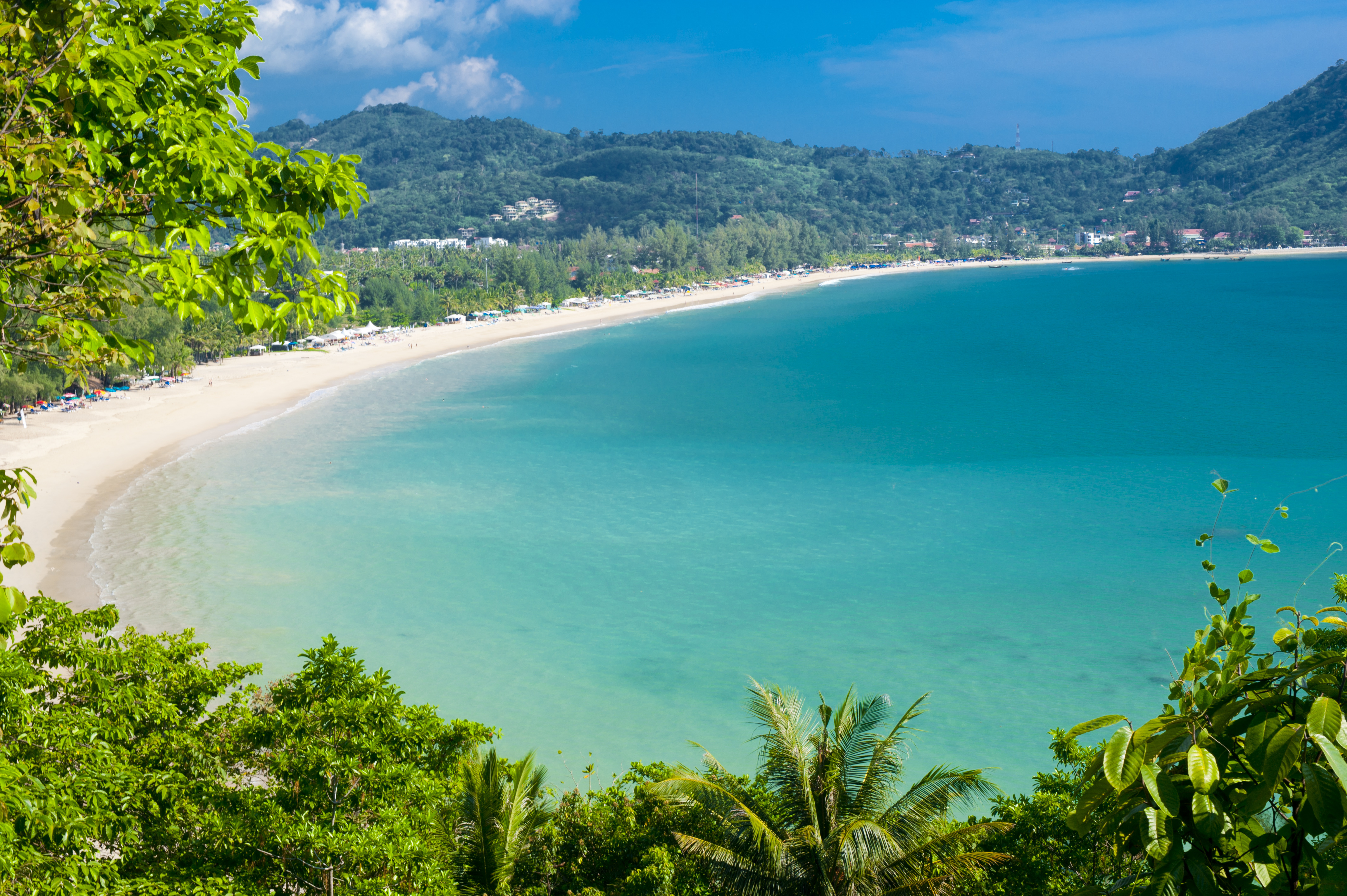 The stunning bay of Kamala Beach in Phuket Thailand