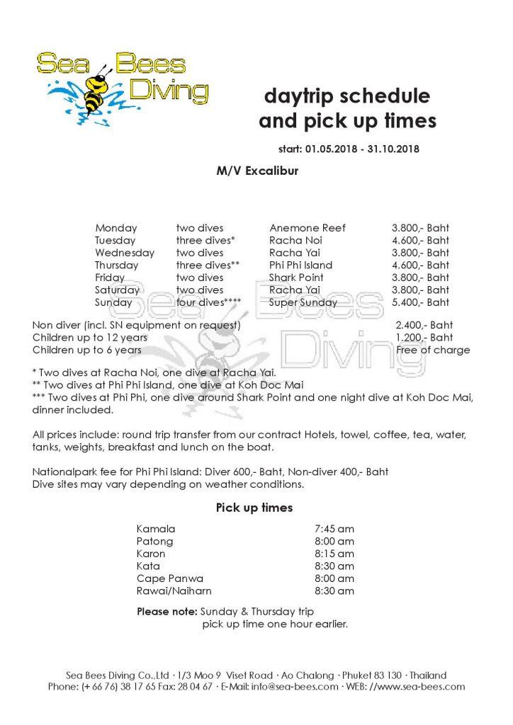 Phuket prices rental equipment